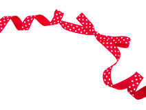 Red polka dot bow isolated Royalty Free Stock Photos