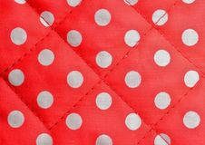 Red polka dot canvas Stock Image