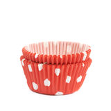 Red polka dot cupcake cup isolated Royalty Free Stock Image