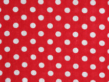 Red polka dot fabric Royalty Free Stock Photography