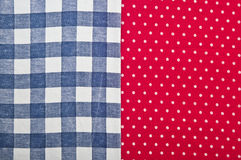 Red polka dot fabric Stock Photos