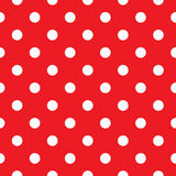 Red polka dot seamless. Polka dot fabric. Retro  background or pattern Stock Photos