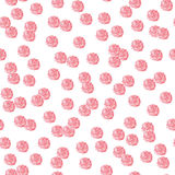 Red polka-dot seamless pattern Royalty Free Stock Photography