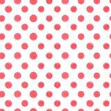 Red polka dot  seamless pattern. Royalty Free Stock Photo