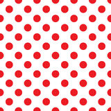 Red polka dot on white Stock Photography