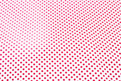 Red Polka Dots Textile. Royalty Free Stock Image