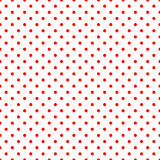 Red Polka Dots on White Pattern Stock Image