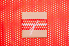 Red polka dotted gift box Stock Image