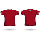 Red polo shirt. A men polo shirt template Stock Photo