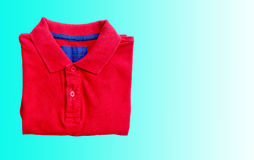 Red polo shirt Stock Photography