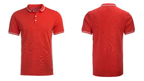 Red Polo shirt, clothes Stock Images