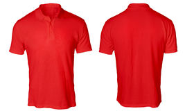 Red Polo Shirt Mock up Stock Image