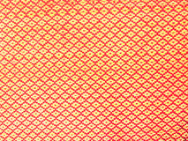 Red polyester fabric texture Stock Photos