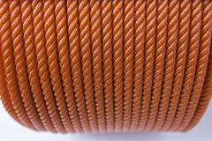 Red polyester ropes Stock Photos