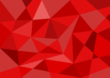 Red polygon background Stock Photography