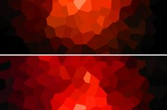 Red polygon backgrounds set banners. Royalty Free Stock Image