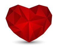 Red Polygon Heart Royalty Free Stock Photography
