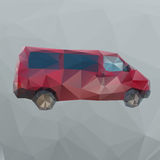 Red polygon van Stock Photos