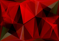 Red polygonal background Stock Photo