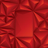 Red polygonal design. Polygonal background for card design, page design, leaflet, brochure, flyer or magazine page design Royalty Free Stock Images