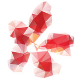 Red Polygonal Flower Stock Image