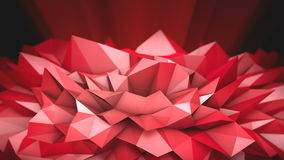 Red Polygonal Shape stock footage