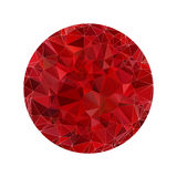 Red polygonal sphere Stock Images