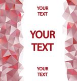 Red polygons background with place for your text Stock Photography