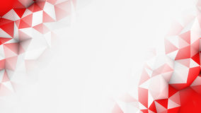 Red polygons and free space abstract 3D render background Stock Images