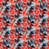 Red polygons seamless pattern wallpaper Stock Images