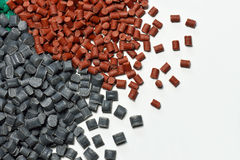 Red polymer resin Stock Photo