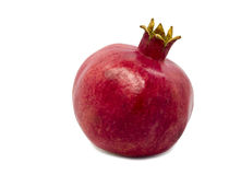 Red pomegranate. On white background Stock Image