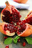 Red pomegranate fruit Stock Photo