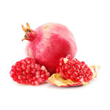 Red pomegranate fruit healthy food isolated. On background Royalty Free Stock Image