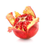 Red pomegranate fruit healthy food isolated Royalty Free Stock Image
