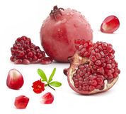 Red pomegranate fruits Stock Photo