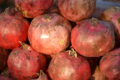 Red Pomegranate fruits Royalty Free Stock Photography