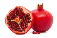 Red pomegranate isolated . Stock Images