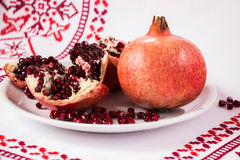 Red pomegranate . Life symbol. Stock Image