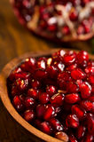 Red pomegranate seeds Stock Images