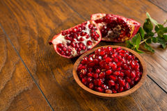 Red pomegranate seeds Royalty Free Stock Photography