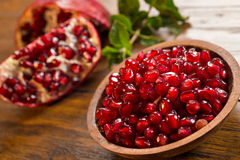 Red pomegranate seeds Stock Photography