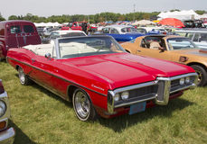 1968 Red Pontiac Catalina Side View Royalty Free Stock Photos
