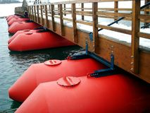 Red pontoon Royalty Free Stock Photography