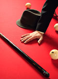 Red pool table Stock Photos