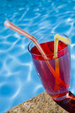 Red Poolside Cocktail Stock Images