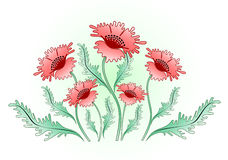 Red poppies background. A vector illustration for decoration Royalty Free Stock Photography