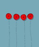 Red poppies card Royalty Free Stock Photos