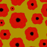 Red Poppies Flower Seamless Pattern Background Royalty Free Stock Images