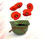Red poppies . May 9 Victory Day Stock Photography